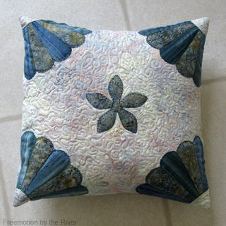 Teal Pillow made with Accuquilt GO! dies