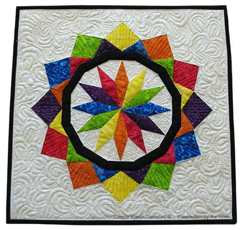 Paper Pieced Celestial Star in Batiks