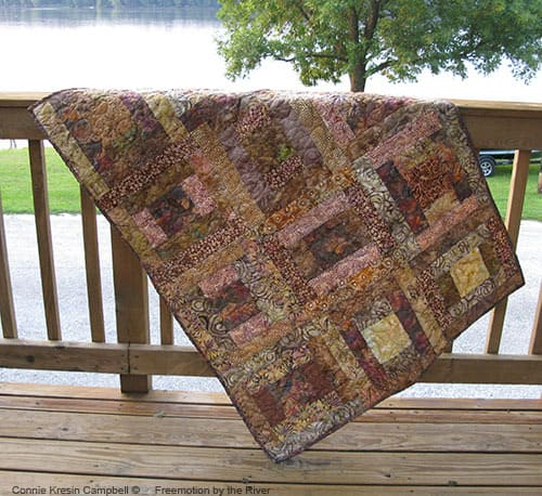 River Squares Wheel Chair Quilt