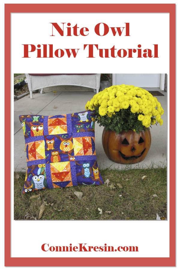 Nite Owl 18 inch Pillow tutorial