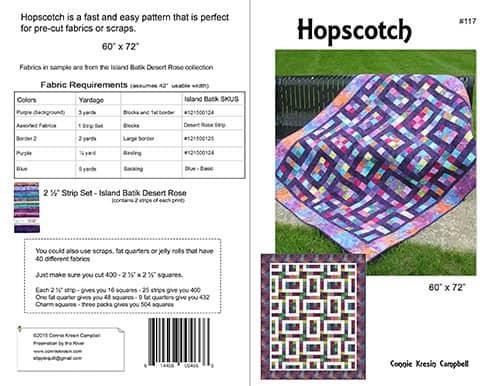 Hopscotch Pattern Cover Back - ConnieKresin.com