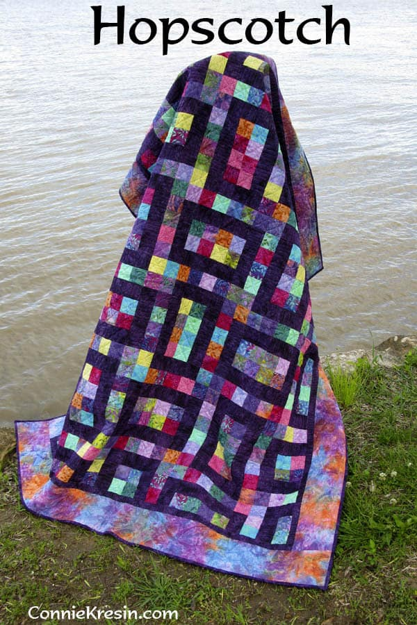 Hopscotch Quilt Pattern - fast and easy - ConnieKresin.com