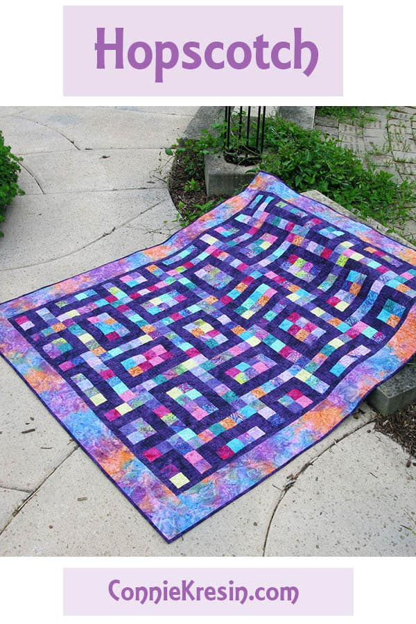Hopscotch Quilt Pattern fast and easy to make