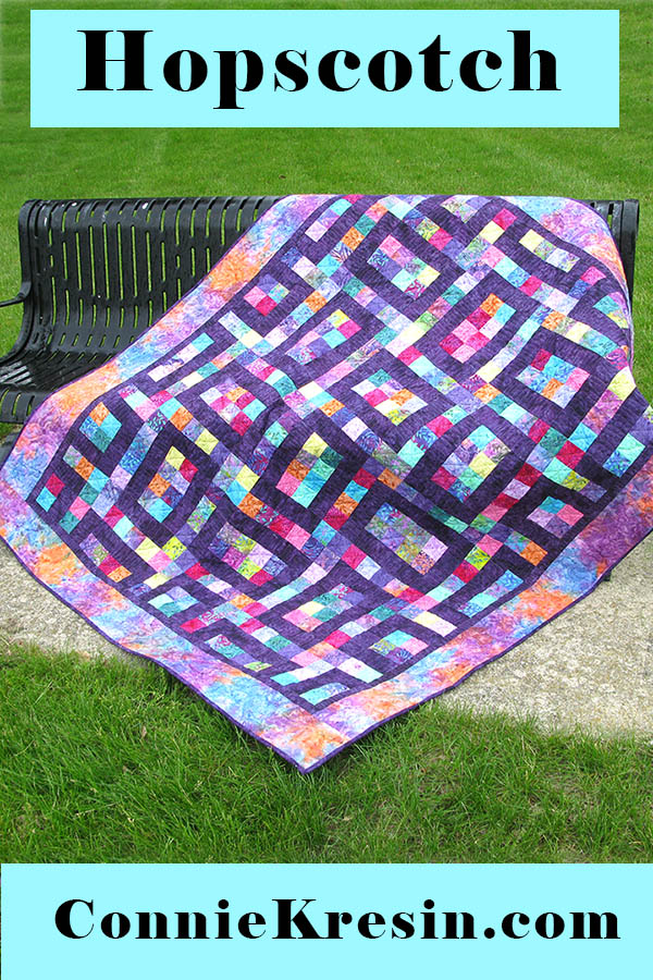 Hopscotch quilt pattern is fast and easy to make