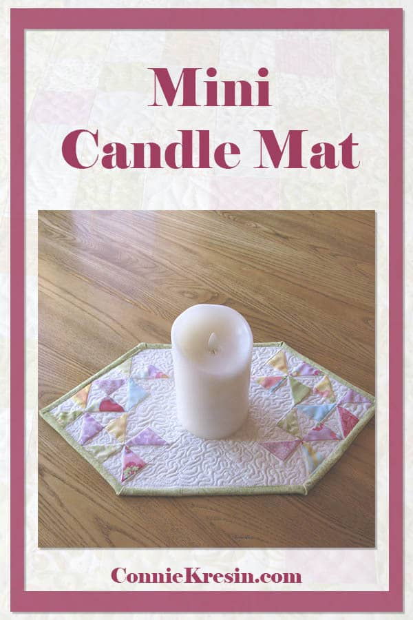 Fast and easy mini table topper or candle mat to make from your leftover quilt blocks