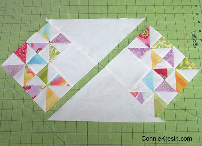 Fast and Easy Mini Table Topper Tutorial sew sections together