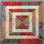 Crystal Cove Swirl Away Aurifil Quilt Block