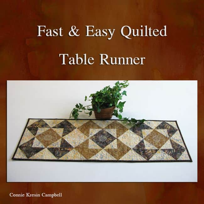 Roasted Coffee Table Runner Tutorial Freemotion By The River