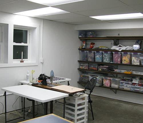 New quilt studio DIY work in progress