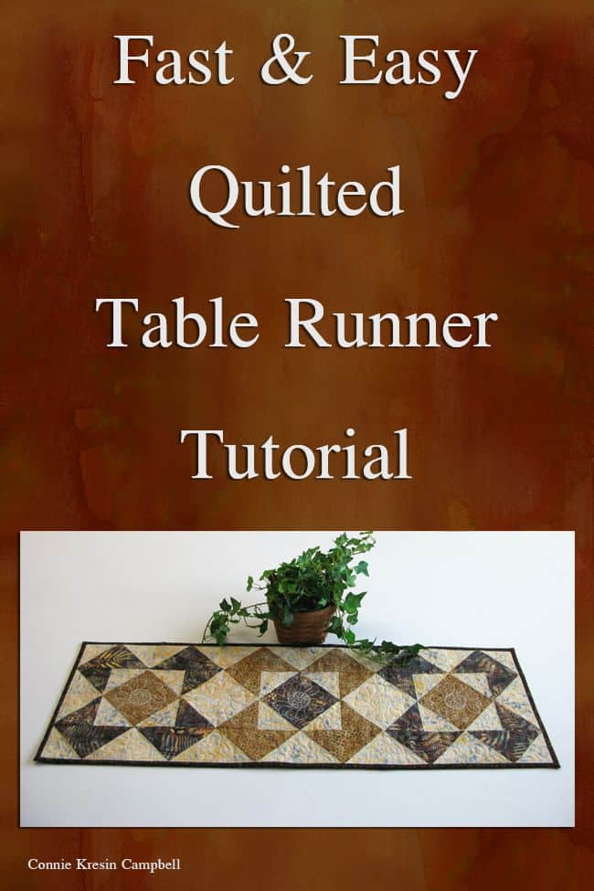 Roasted Coffee Table Runner Tutorial