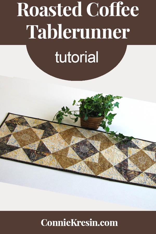 Roasted coffee quilted tablerunner tutorial