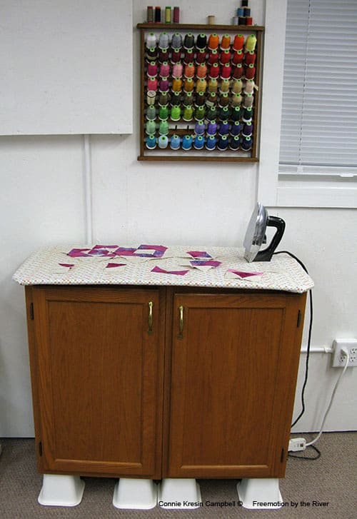 DIY Ironing Board Station