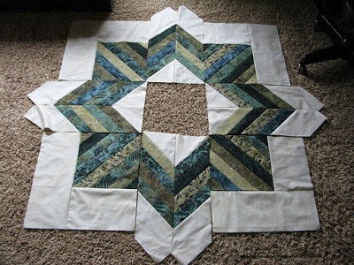 Joyful Jelly Roll quilt or tree skirt pattern made with batiks