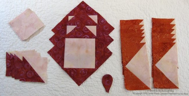 .AccuQuilt batik block pieces