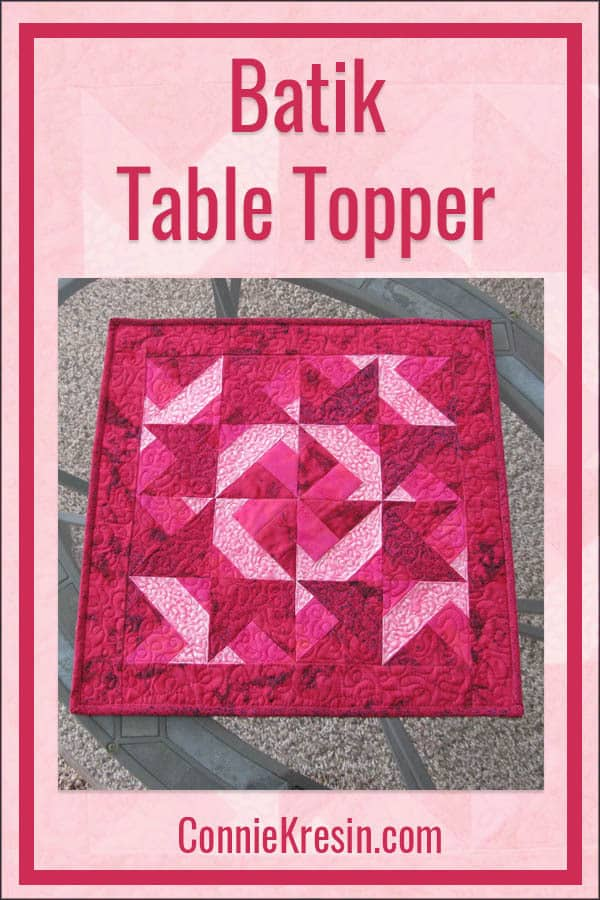 Batik table topper tutorial perfect for your table or use as a wall hanging or Valentine's Day