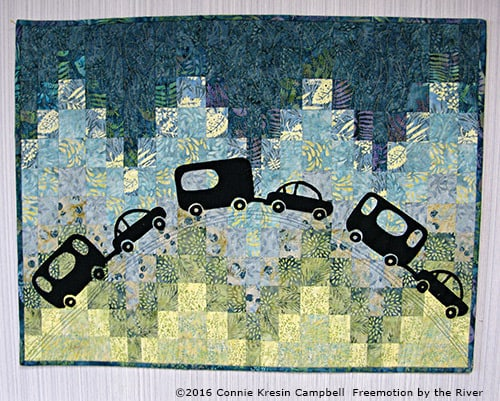 Caravan quilt made with Crystal Cove from Island Batik