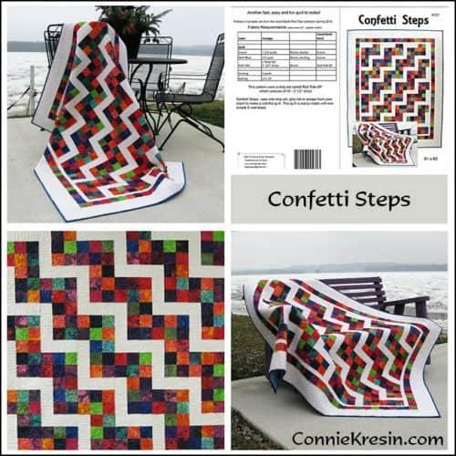 Confetti Steps Pattern Store Collage - ConnieKresin.com