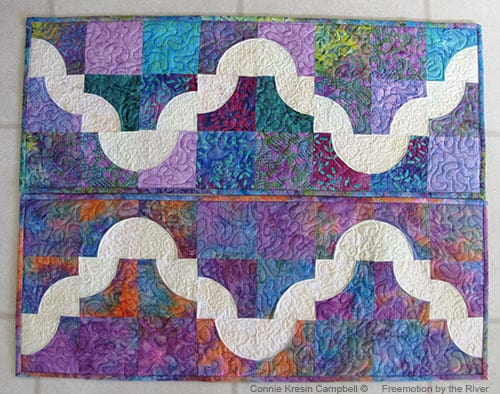 Hopscotch quilt made with Desert Rose batiks