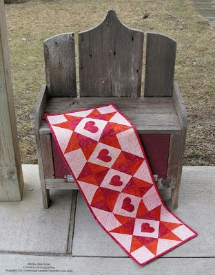 Batik Valentine Table runner tutorial