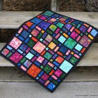 Mini Scattered Quilt in Batiks