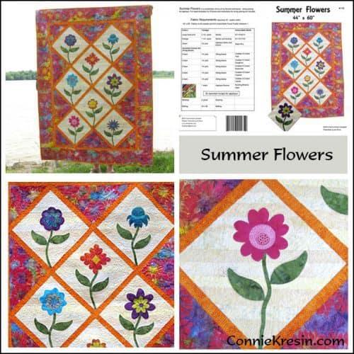 Summer Flowers Pattern Store Collage - ConnieKresin.com