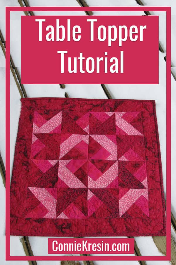 Batik table topper tutorial perfect for your table or use as a wall hanging