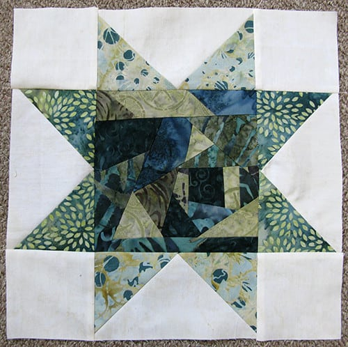 Fast and easy Improv Star quilt block