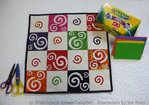 Coral Reef Swirls wall hanging