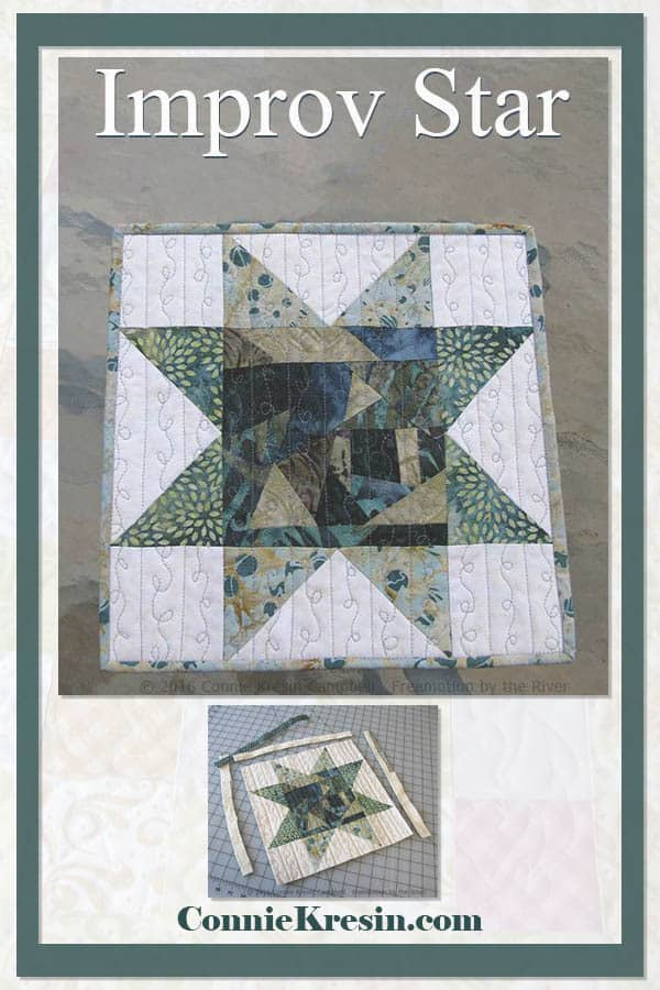 Fun and easy improv star quilt block tutorial