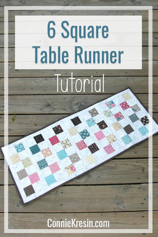 Easy six square table runner tutorial