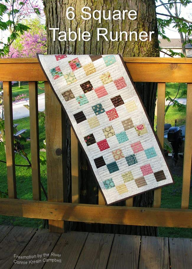 Tutorial for a 6 Square Table Runner