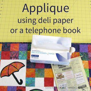 Applique using deli paper or a telephone book