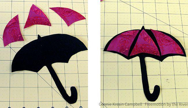 Batik appliqued umbrella