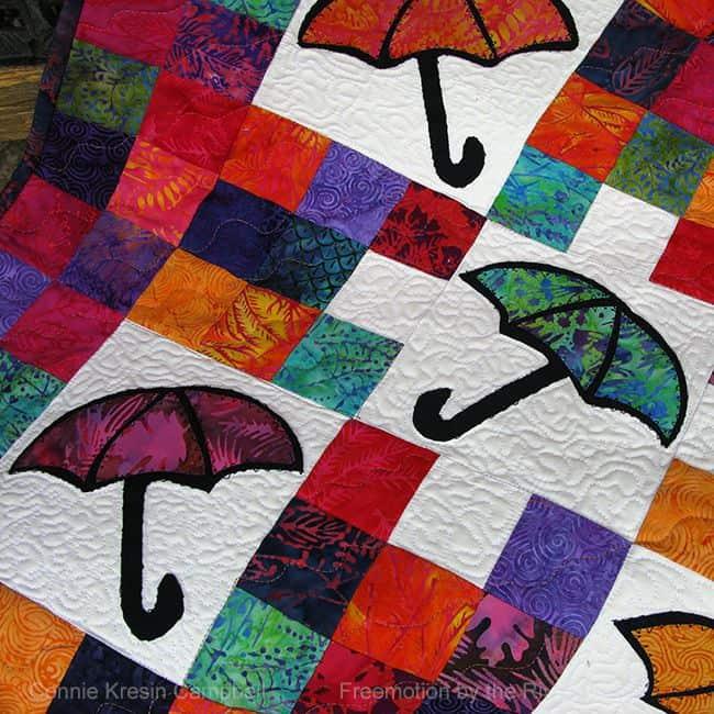 Batik appliqued umbrellas