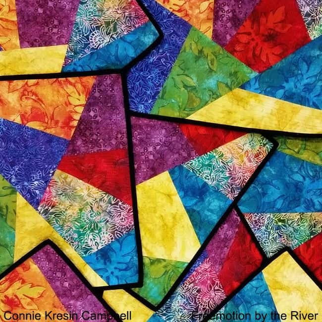 Quilt Placemats in Psychedelic Colors