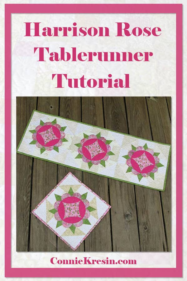 Harrison Rose tutorial for a appliqued tablerunner