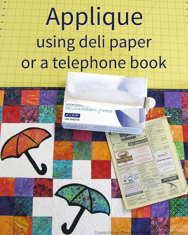 Umbrella Quilt Template Tutorial at Freemotion by the River