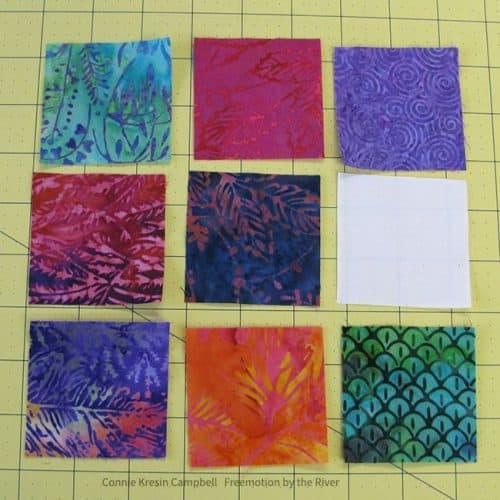 Piecing together the Batik umbrella block