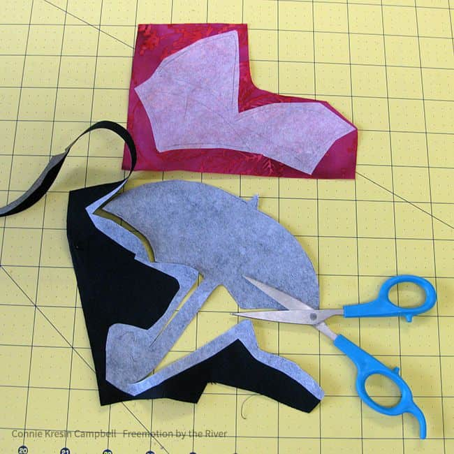 Batik umbrella cut from template