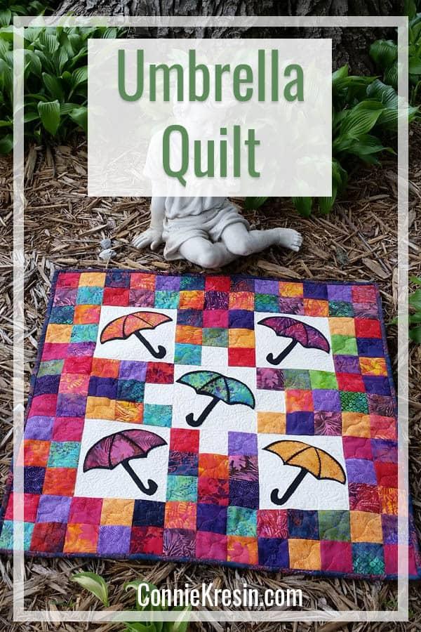 Easy to make batik Umbrella Quilt tutorial