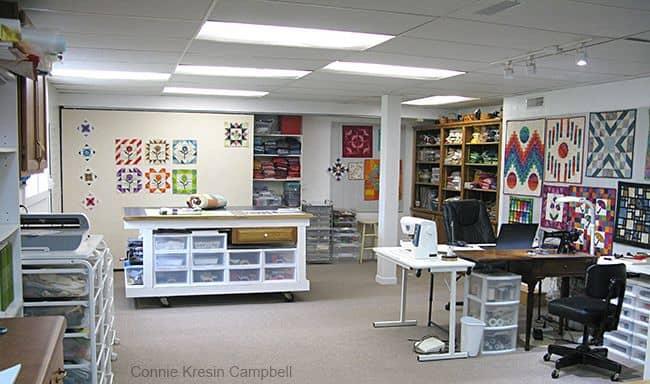 view of my quilt studio