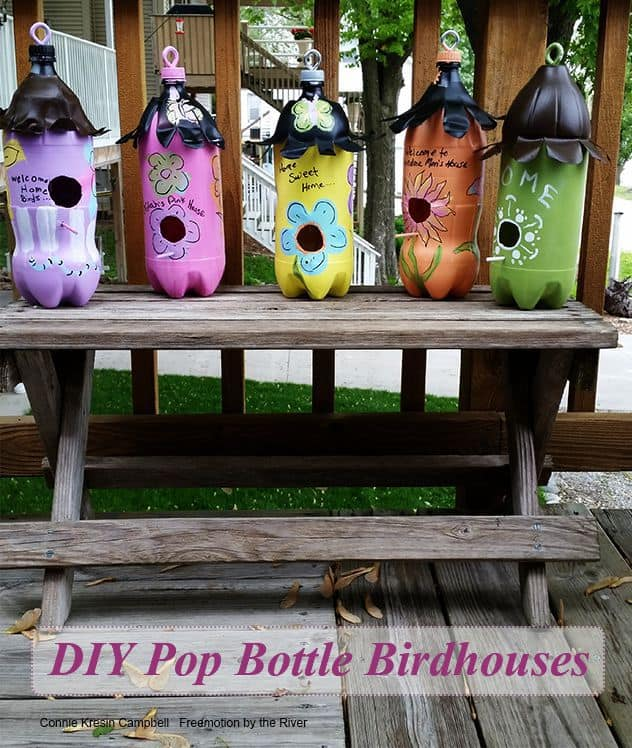 DIY 2 Liter Bottle Birdhouses