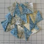 Half Square Triangles using Pat Sloan's book Teach Me to Sew Triangles
