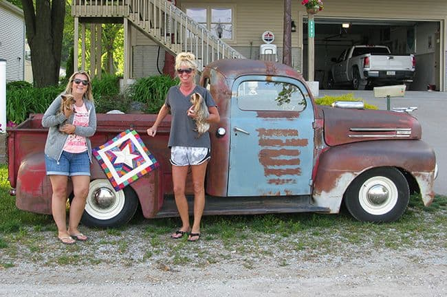 Rat Rod old Truck with quilt