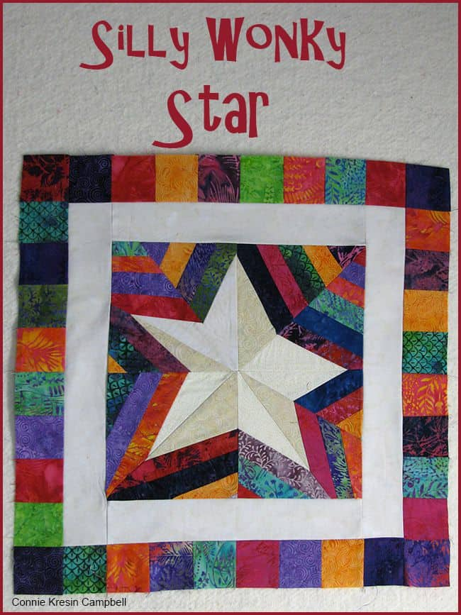 Silly Wonky Paper pieced Star