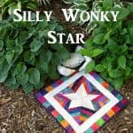 Silly wonky paper pieced star table topper
