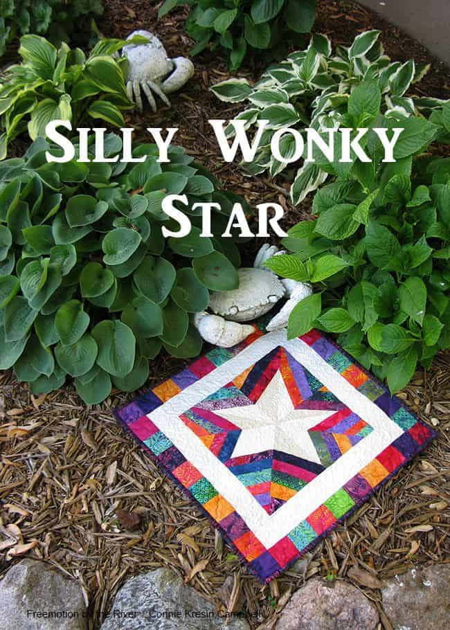 Silly wonky paper pieced star table topper Wonky Star And Rat Rod Truck