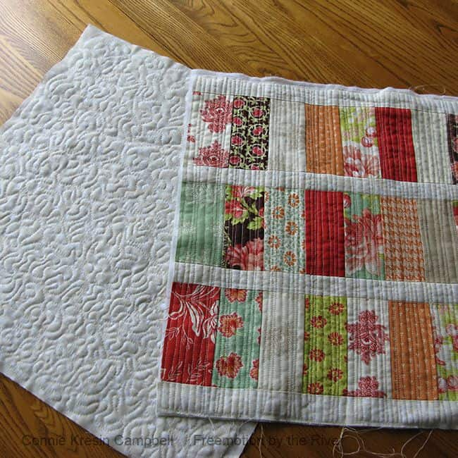 making quilted fabric from scraps