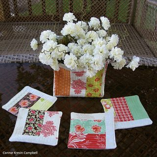 Quilted basket tutorial and coasters