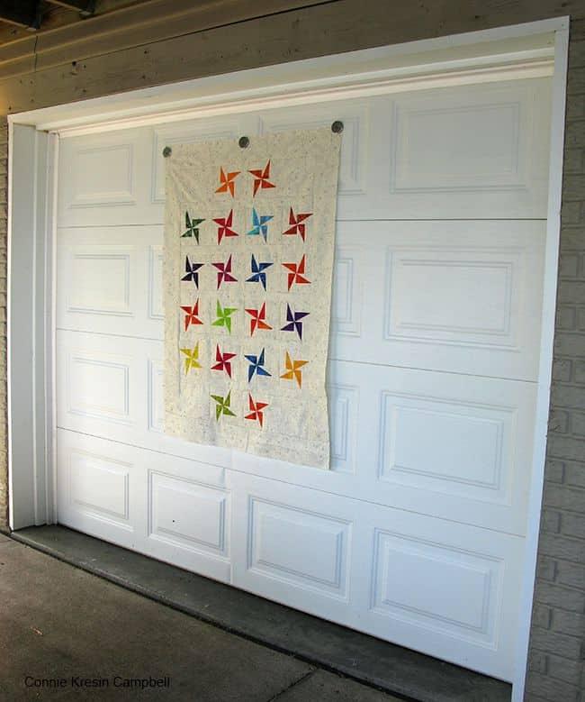 Garage Door quilt display